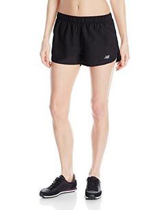 New Balance Women's Accelerate Shorts, Large, Black - http://www.exercisejoy.com/new-balance-womens-accelerate-shorts-large-black/athletic-clothing/
