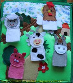 La granja marionetas de dedos