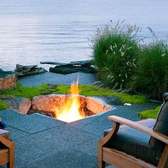 Geometric play - Ideas for Fire Pits - Sunset