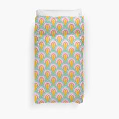 'Rainbow Convention Pattern' Duvet Cover by MadoMade Rainbow Colours, Duvet Cover Design, College Dorm Bedding, Rainbow Bridge, Duvet Insert, Duvet Covers, Bedroom Decor, Sleep, Earth