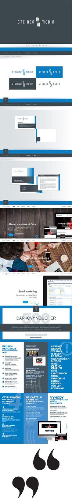 Malá grafická ukázka značky Steiner Media www.steinermedia.cz Pomůžeme vám k profesionálnímu vzhledu společnosti. Kontakt info@steinermedia.cz