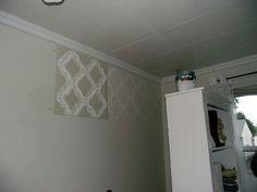 wall stencil patterns free   Royal Design Studio Stencilled Bedroom Wall - AKA Design