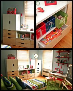 Great child's room - especially the storage system!