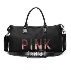 Tas Victoria Secret Travel Bag Pink Ori 7170 42x20x22 Black 210rb