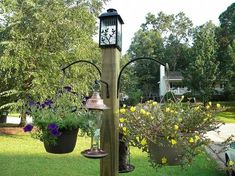 build this freestanding bird feeder and flower post, diy, flowers, gardening, how to, repurposing upcycling, woodworking projects