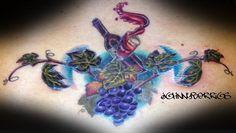wine tattoo by Johnny Berrios