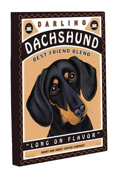 Darling Dachshund Canvas