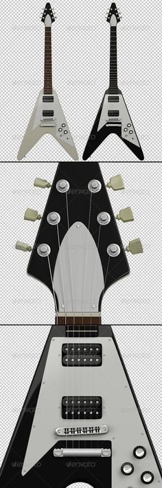 2 Guitar Renders  #GraphicRiver         2 Gibson Flying V Guitar Renders   Format: PNG with transparent background   Resolution: 2500×6000 each     Created: 7November11 GraphicsFilesIncluded: TransparentPNG Layered: No PixelDimensions: 2500x6000 PrintDimensions: 8.3x20 Tags: Epiphone #black #electric #flyingv #gibson #guitar #guitarist #music #musician #rock #rock-n-roll #white