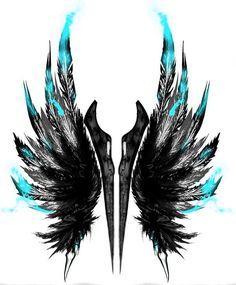 68 Ideas Tattoo Back Wings Angel Tatoo Feather Tattoos, Body Art Tattoos, New Tattoos, Sleeve Tattoos, Halo Tattoo, Trendy Tattoos, Popular Tattoos, Valkyrie Tattoo, Tattoo Cover Up