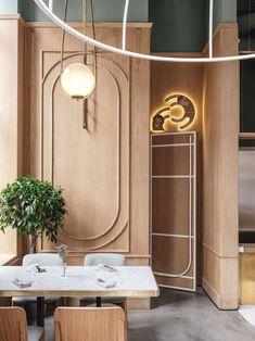 modern restaurant Photo by Mikhail Loskutov. Architecture Restaurant, Restaurant Interior Design, Cafe Interior, Modern Interior, Resturant Interior, Commercial Design, Commercial Interiors, Art Deco, Café Design