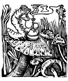 Engraving from Alice's Adventures in Wonderland (2011)