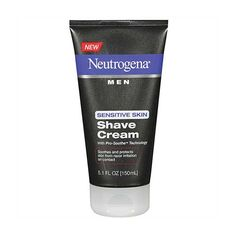 BEST SHAVING CREAMS FOR MEN: Neutrogena Men Sensitive Skin Shave Cream, 5.1