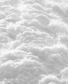 White-water rapids is my guess, but the original website is a 404 error page, and so far the pinners I've checked haven't listed what it is, except snow. The motion doesn't seem to correlate with snow. All White, Pure White, White Sea, White Light, Outfits In Weiss, Foto Picture, Blanco White, Mawa Design, White Texture