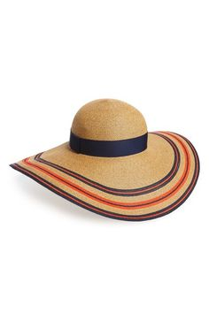 Eugenia Kim 'Sunny' Stripe Straw Sun Hat available at #Nordstrom