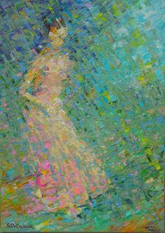 "Saatchi Online Artist: Sergej Ovcharuk; Oil 2013 Painting ""Elize"""