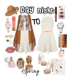 """#Spring (Day to Night)"" by ashstylist101 on Polyvore featuring Topshop, Nora Barth, Qupid, Steve Madden, Scialle, Emporio Armani, Lime Crime, Casetify, LC Lauren Conrad and David Yurman"
