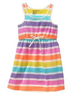 Rainbow striped dress | Gap