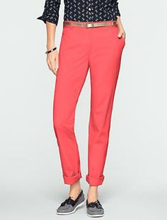 Talbots - The Weekender Pants -Nantucket Red 40s Outfits 1eac53726