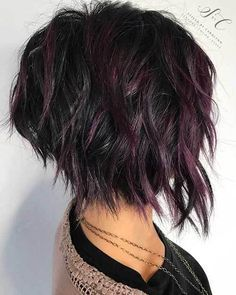 20 Latest Short Choppy Haircuts for Textured Style: #12- Dark and Red Hair