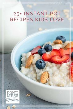 Looking for easy meals that the whole family will enjoy? Check out these 25 Instant Pot Recipes Kids Love. All Instant Pot recipes are gluten-free and so easy to make. Gluten Free Recipes For Kids, Dinner Recipes For Kids, Breakfast Food List, Breakfast For Kids, Meals Kids Love, Fitness Models, Real Food Recipes, Delicious Recipes, Easy Recipes