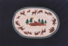 """HAND PRINTED COYOTE RUG - This rug has been hand printed with as many as ten different colours! Detailed images with unparalleled shading and colour sets the standard for this beautiful rug. 20"""" x 30"""""""