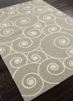 Living room rug - Walmart: Jaipur Coastal Living(R) I-O Nautilus Abstract Pattern Gray /Black Indoor/ Outdoor Rug Ocean Home Decor, Beach House Decor, Coastal Rugs, Coastal Living, Coastal Style, Carpets Online, Jaipur Rugs, Indian Rugs, Custom Rugs