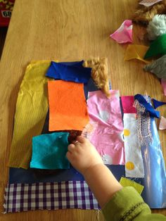 Sticky Fabric Toddler Activity