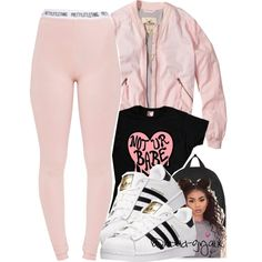 A fashion look from January 2017 featuring Hollister Co. jackets, Pretty Little Thing leggings and adidas sneakers. Browse and shop related looks.