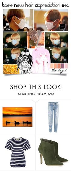 """""""Tae's New Hair"""" by taeangel ❤ liked on Polyvore featuring Trademark Fine Art, Dsquared2, Sea, New York, Gianvito Rossi, kpop, bts, bangtan, tae and btspolyvorearmy"""