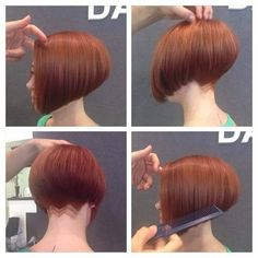 red bob haircut