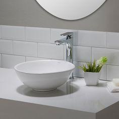 Kraus Elavo™ Ceramic Round Vessel Bathroom Sink