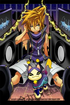 Neku Sakuraba from The World Ends With You and Kingdom Hearts: Dream Drop Distance) Kingdom Hearts Games, Disney Kingdom Hearts, End Of The World, Wonders Of The World, Video Game Art, Video Games, Dream Eater, Best Rpg, Fandoms