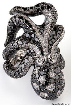 Cantamessa Diamond Octopus Ring