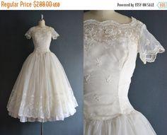 SALE  Giselle / 50s wedding dress / bridal gown by BreanneFaouzi