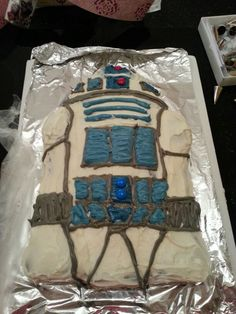 R2d2 cake. May the force be with you :)