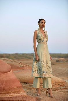 15 Anita Dongre Lehengas For Spring Summer 2019 + PRICES is part of Indian fashion trends - New 2019 spring summer Anita Dongre Lehengas are here Check out 15 gorgeous hand painted lehengas launched in this limited edition Indian Fashion Trends, Indian Fashion Dresses, Indian Gowns, Indian Attire, Indian Ethnic Wear, India Fashion, Fashion Outfits, Ethnic Fashion, Indian Suits Punjabi
