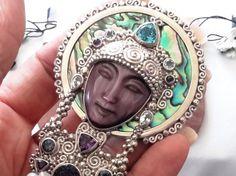 Удивительная изысканная подпись sajen стерлингового серебра лицо богини, кулон/брошь | Украшения и часы, Украшения, Булавки, броши | eBay!