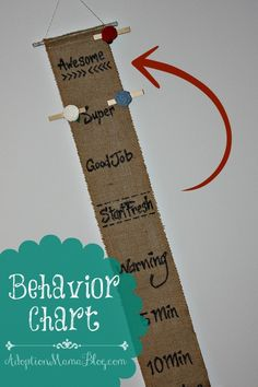A Behavior Chart that Deserves to be on Display.