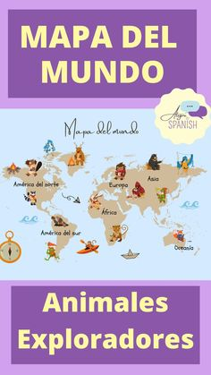 Mapa del mundo decoración para niños