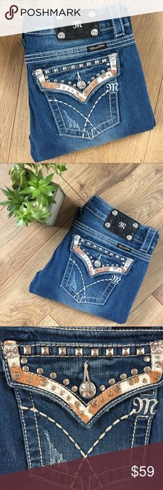 MISS ME Straight Leg Jeans - Size 30 Miss Me straight leg jeans. Size 30. No issues. Great condition. Inseam: 34, Rise: 8, Waist: 17. Miss Me Jeans Straight Leg