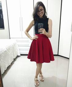 """385 curtidas, 13 comentários - Éricka Lobo (@eu.usaria) no Instagram: """"Mais um look de ontem (e com a mesma sandália metalizada!!!) ❤ Misturei o estilo lady like com o…"""""""