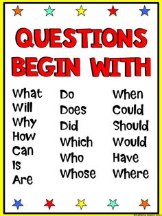Question word posters - only $1! Especially helpful to ELD/ESL/EFL students