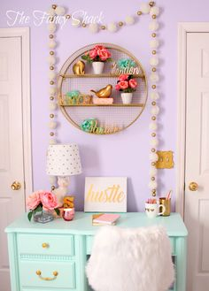Sami Says AG & The Fancy Shack Girls Pastel Bedroom Room makeover