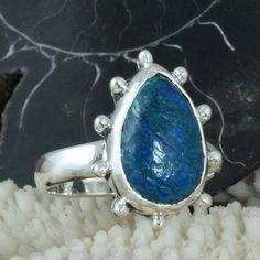 EXOTIC 925 SOLID STERLING SILVER Shattuckatite FANCY RING 4.33g DJR9688 SZ-8 #Handmade #Ring
