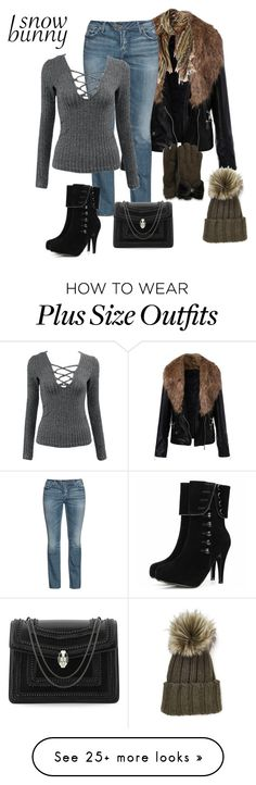 """""""snow bunny"""" by rkdk1101 on Polyvore featuring Etro, Silver Jeans Co., Bulgari, Inverni and UGG Australia"""