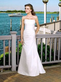 2011 New Style Hot Sale Elegant Silver Strapless A Line Wedding