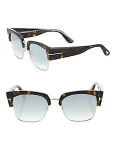 Tom Ford Eyewear Dakota 55MM Soft Square Sunglasses