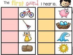 First Sounds: A magnetic letter literacy center! Perfect for kinders that are just learning letters and sounds. $