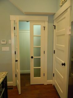 LOVE the door trim!!!  We could totally do this!!!