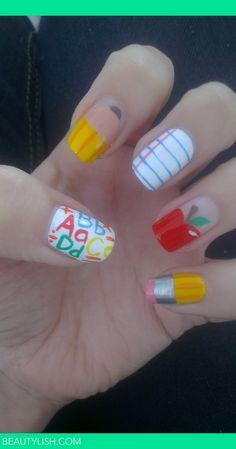 back to school nails   Alexis C.'s Photo   Beautylish